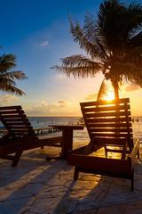Riviera Maya sunrise beach hammocks