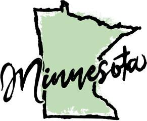 Hand Drawn Minnesota State Design