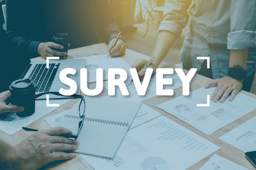 Group of entrepreneurs analysis and enjoy working survey concept in productive environment.