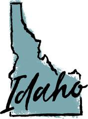 Hand Drawn Idaho State Design