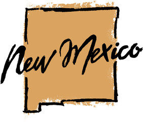Hand Drawn New Mexico State Design
