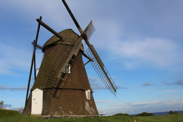 The old windmill. Shot in Denmark