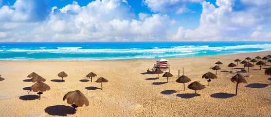 Cancun Delfines Beach at Hotel Zone Mexico