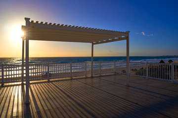Cancun sunrise at Delfines Beach Mexico