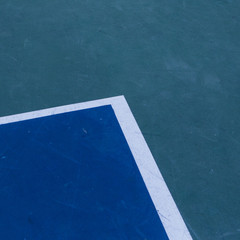 Lines on basketball court, close up