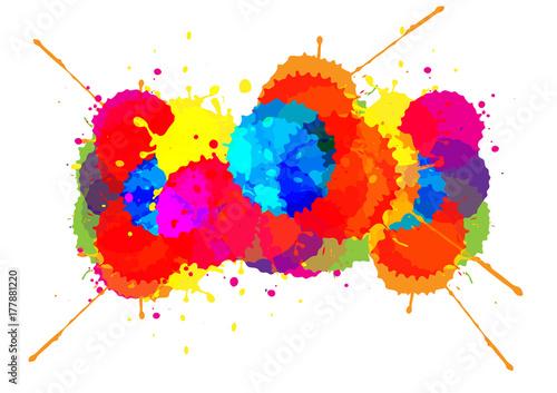 vector splatter color background design illustration vector design