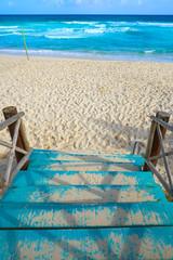 Foto op Plexiglas Caraïben Cozumel island San Martin beach in Mexico