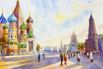 Cathedral of St. Basil in the Red Square in Moscow