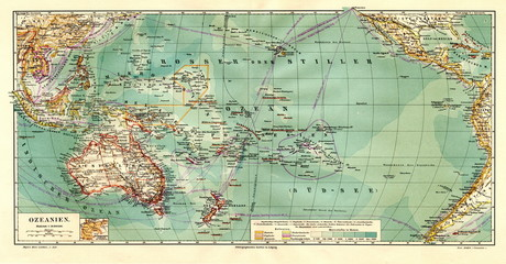 Map of Oceania (from Meyers Lexikon, 1896, 13/390/391)