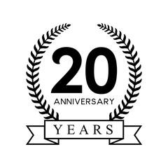 20th anniversary years