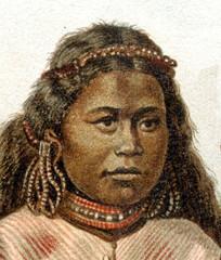 Indigenous woman from Mortlock Islands (from Meyers Lexikon, 1896, 13/390/391)