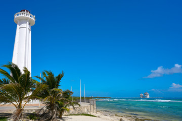 Mahahual lighthouse in Costa Maya Mexico