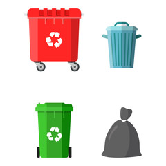 Can container, bag and bucket for garbage.
