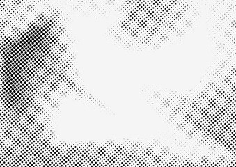 Dotted halftone grey and black background template