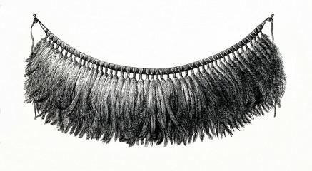Traditional suit of australian female dancer - loincloth