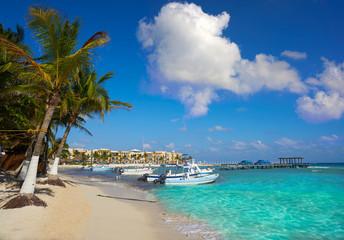 Fototapete - Playa del Carmen beach in Riviera Maya