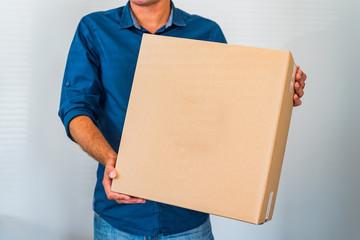 Obraz Paczka kurier karton dostawa - fototapety do salonu
