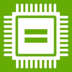 Electronic circuit board icon green