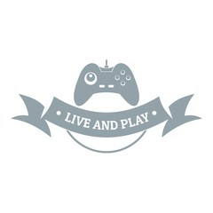 Game logo, simple gray style
