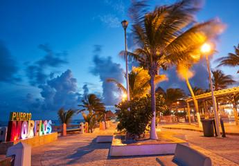 Puerto Morelos beach sunset Riviera Maya