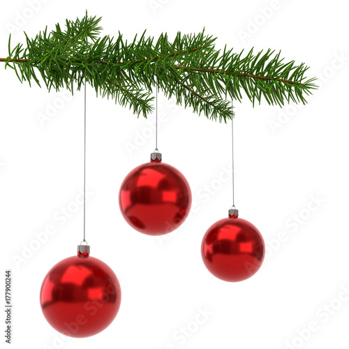 tannenzweig mit roten weihnachtskugel stockfotos und lizenzfreie bilder auf bild. Black Bedroom Furniture Sets. Home Design Ideas