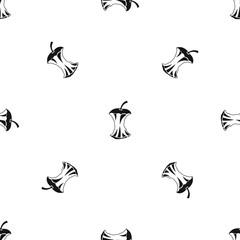 Apple core pattern seamless black