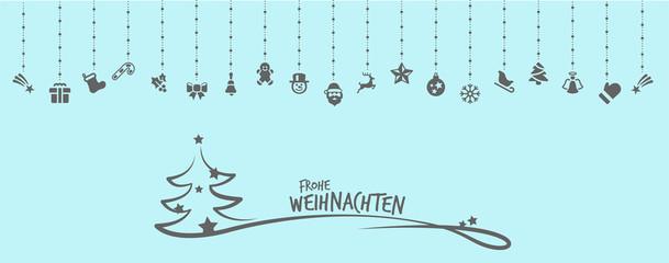 Wall Mural - Frohe Weihnachten Hintergrund blau Tannenbaum