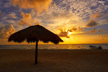 Riviera Maya sunrise in Caribbean Mexico