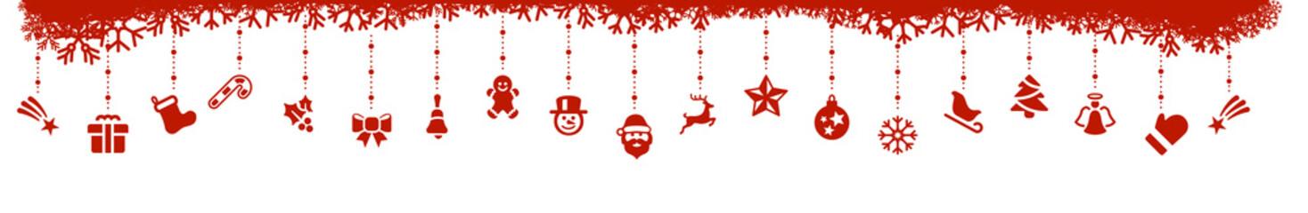 Wall Mural - Rot Weihnachten Elemente Icons freigestellt