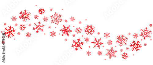 quotred snowflakes borderquot stock image and royaltyfree