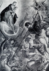 Archangel Michael Fights Satan (Tintoretto, ca.1590)