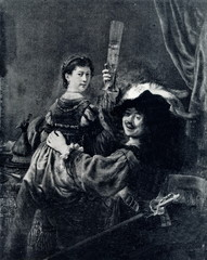 The Prodigal Son in the Brothel (Self-Portrait with Saskia) (Rembrandt, ca. 1637)