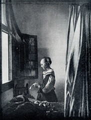 Girl Reading a Letter at an Open Window (Johannes Vermeer, ca. 1657)