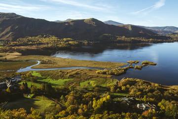View over Derwent Water to Cat Bells.