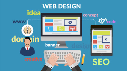 web design concept for your banner eps 10 vector