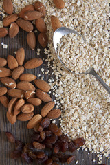 Ingredients for oatmeal bars