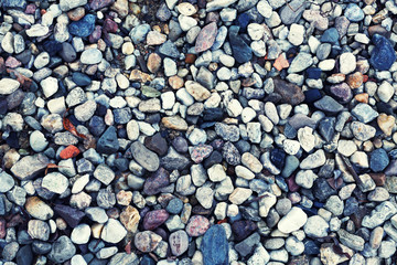 The background of the pebbles on the beach