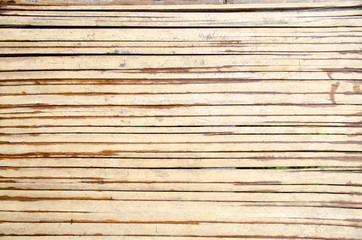 Bamboo wickerwork wall in Asian rural area. Bamboo texture background from tribal house wall.