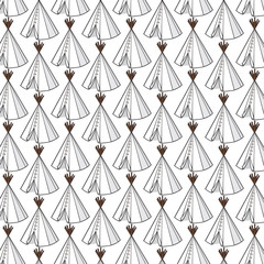 background pattern with wigwam