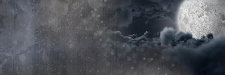Obraz Dark mystical moon clouds - fototapety do salonu