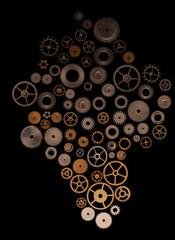 Gradient of watch gears