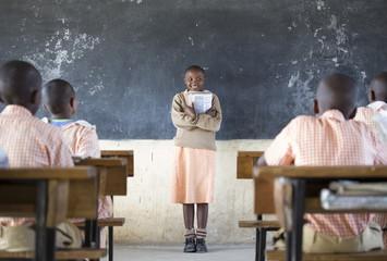 Kenyan school children. Kenya, Africa.