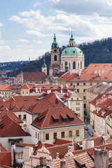 Prague Buildings and Landmark Church