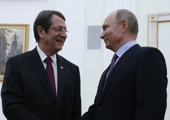 Russian President Putin meets Cypriot President Anastasiades in Moscow