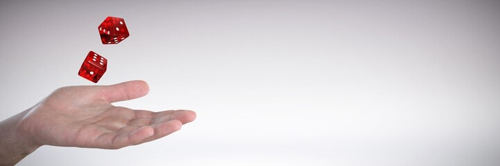 Composite image of hand gesturing against white background