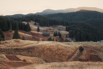 Autumn mauntain view
