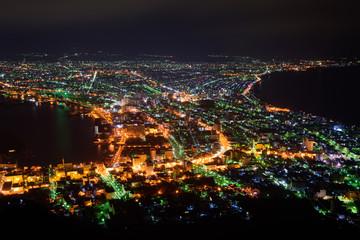 北海道 函館表夜景 函館山からの風景