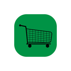 shopping cart square icon vector