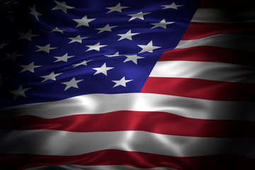 National flag of the United States of America 3D illustration