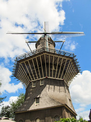 De Gooyer Windmill - the tallest wooden mill in the Netherlands (Amsterdam)
